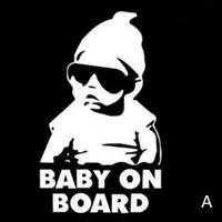Car Window Laptop Vinyl Decal Baby on Board Hangover Car Sticker Sign Q2Q5 D8D7
