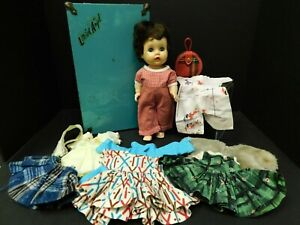 "Vintage R&B Arranbee Littlest Angel 10"" Doll with Trunk and Clothes"