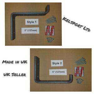 Heavy Duty Steel Scaffold Board Rustic Shelf Brackets 127mm 5inch Made in UK