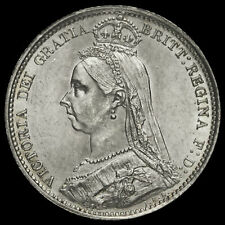 1888 Queen Victoria Jubilee Head Silver Sixpence, A/UNC #2
