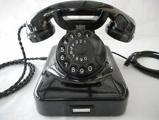 ALTES BAKELIT TELEFON   W48 +  Fr  Reiner  + 1954 + Wählscheibe + restauriert