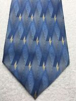 DOCKERS MENS TIE  BLUE GRAY GOLD 4 X 58