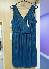 Vestido De Fiesta red Herring Debenhams Verde Ocasión Plisse Grecian UK Size 16 BNWT