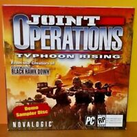 BRAND NEW SEALED Joint Operations Typhoon Rising - Demo Disc PC DVD-Rom Software
