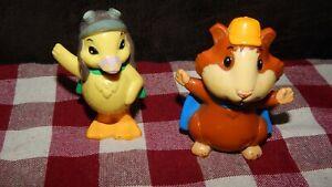Mattel Wonder Pets Linny the Guinea Pig Hamster & Ming Ming Duck PVC Toy Figure
