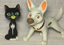 """RARE 4"""" Disney Bolt Toy Figure Cake Topper with cat Standing DecoPac NEW"""