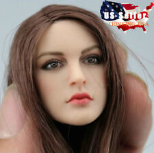 1/6 KIMI KT005 Female Head Sculpt For Hot Toys Phicen SUNTAN Female Figure USA