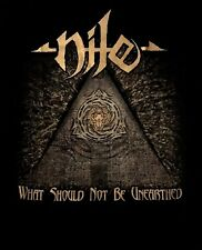 NILE cd cvr WHAT SHOULD NOT BE UNEARTHED Official 2017 TOUR SHIRT XL new