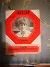 """Partition """"Les lilas """"  C Jerome"""