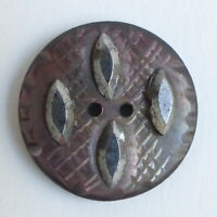 Bouton ancien - Nacre & Clous d'acier - 18 mm - Cut Steel Shell button