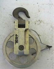 Crosby-Laughlin Swivel Eye Hook & Pulley Snatch  Block Wire Rope  Aluminum (S12)