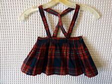 50s Little Girls plaid woolblend suspender skirt 22 waist