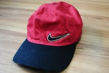 NIKE VINTAGE CAP MADE IN TAIWAN BIG LOGO 90s RED / BLACK RARE COTTON ONE SIZE