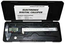 Steel 6 Inch Digital Caliper With Extra Large Lcd Screen With Battery And Case