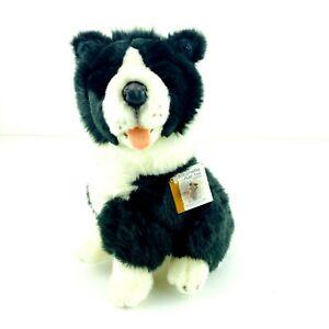 Bocchetta Plush Toy Border Collie Pepsi Most Realistic Stuffed Dog Animal 25cm