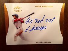 """YOAN MONCADA 2015 LEAF ULTIMATE DRAFT BRONZE SP """"GO RED SOX"""" AUTO RC RED SOX"""