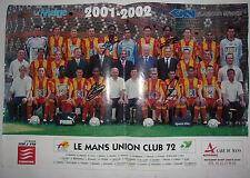 TRES RARE POSTER LE MANS MUC72 / SAISON 2001-2002 / SIGNE DIDIER DROGBA