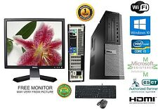 Dell Optiplex 990 SFF PC i5 2400 Quad 3.1GHz 4GB 500GB Windows 10 hp 64