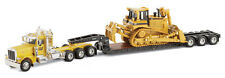 Caterpillar Peterbilt 389 Tri-Axle Trail King Lowboy Trailer and D8R 55207 CAT