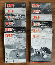 Vintage QST AMATEUR RADIO MAGAZINE - 1963 Full Year, 12 Issues