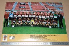 CLIPPING POSTER FOOTBALL 1980-1981 OGC NICE NISSA RAY OGCN AIGLONS