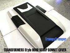 WHITE A2W HOOD SCOOP BONNET COVER FORD RANGER MK2 PX2 WILDTRAK XLT XL 15 16 17