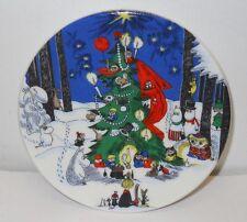 Moomin Christmas Wall Plate Iittala Arabia Finland 1992