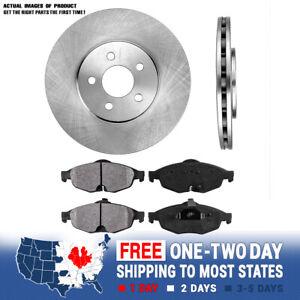 Front Brake Rotors And Metallic Pads For Chrysler Sebring Dodge Stratus Sedan