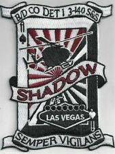 US ARMY DET 1 B/D/3-140 AVN PATCH -   'SHADOW'       COLOR