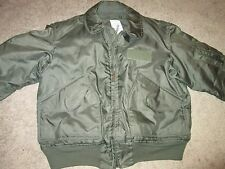 US AIR FORCE MEN'S SUMMER FLYER'S JACKET SIZE L 42-44 EXCELLENT USED CONDITION