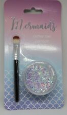 Mermaids Glitter Gel For Hair,Face & Body With Brush