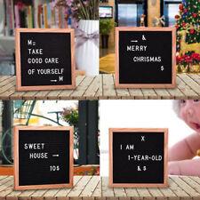 "10""x10"" Black Felt Letter Board Set with 507 Plastic Letters Changeable Wooden"