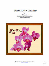 Cooktown Orchid - cross stitch chart