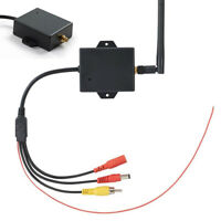 2.4G Wireless Car Black Rear View Video Transmitter Receiver Kit For Vans RVs