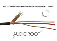 Bulk 10 foot of WHITE MOGAMI 2944 26 AWG Console Internal/External Wiring Cable