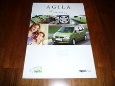 Opel Agila Zubehörprospekt 01/2000