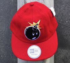 The Hundreds Red Chenille Adam Mens 5 Panel Camp Strap Snapback Hat Cap