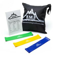 Black Mountain Fitness Products Loop Resistance Exercise Bands Carrying Case