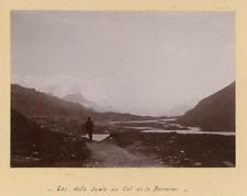 Suisse, Lac della Scala au Col de la Bernina Vintage citrate print.  Tirage