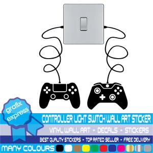 Gaming Controller light switch Vinyl Sticker Wall Art Decal Gamer Room Bedroom