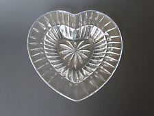 Mikasa Glass Heart Shaped Crystal Dish New In The Box