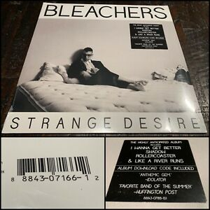 BLEACHERS Strange Desire LP Clear Vinyl 1st Press SEALED-steel train red hearse