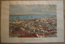1875 Reclus print LISBON, PORTUGAL (#71)