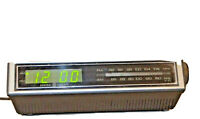 VINTAGE GE 7-4655A GENERAL ELECTRIC FM/AM CLOCK RADIO TESTED Working Condition