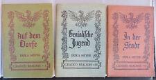 Lot of 3 Vintage German Graded Reader Books by Erika Meyer, Books 1, 2 & 3, 1949