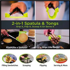 2018 Clever Tongs 2-in-1 Kitchen Spatula And Tongs Non-Stick Heat Resistance