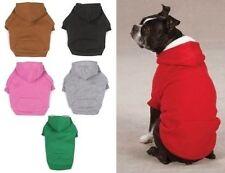 FLEECE DOG HOODIE Double Layer Pet Sweatshirt Zack & Zoey Hooded Coat 6 Colors