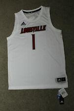 Adidas #1 NCAA Louisville Cardinals Basketball Swingman White Jersey Mens Size L