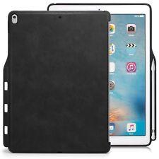Funda iPad Pro 12.9 2017 KHOMO Carcasa Trasera con Porta Lápiz Cuero Negro