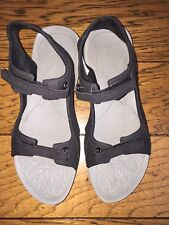 Columbia Women's Black And Gray Velcro Sandals Size 8